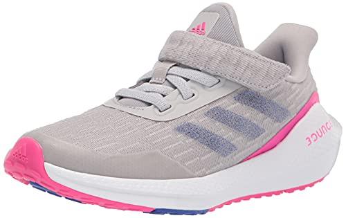 adidas Kids EQ21 Run Elastic Shoe, Grey/Sonic Ink/Shock Pink, 10 US Unisex Toddler