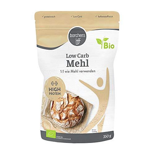 borchers Bio Low Carb Mehl, Weniger Kohlenhydrate, Proteinreich, Ballaststoffreich, 350 g