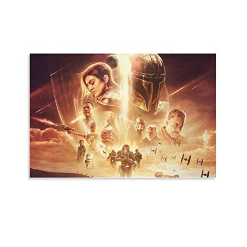 SSKJTC Lienzo decorativo para pared con diseño de Star Wars con texto en inglés 'All Roles' (40 x 60 cm)
