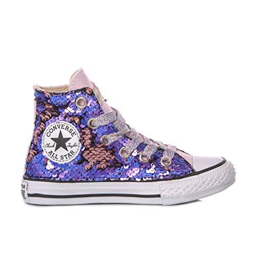 Converse Luxury Fashion Mädchen MI1336 Violett Stoff Hi Top Sneakers   Jahreszeit Permanent