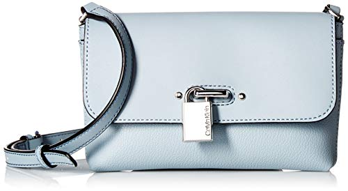 Calvin Klein Roxy Goat Split Leather Flap Over Chain Detail Crossbody, twilight