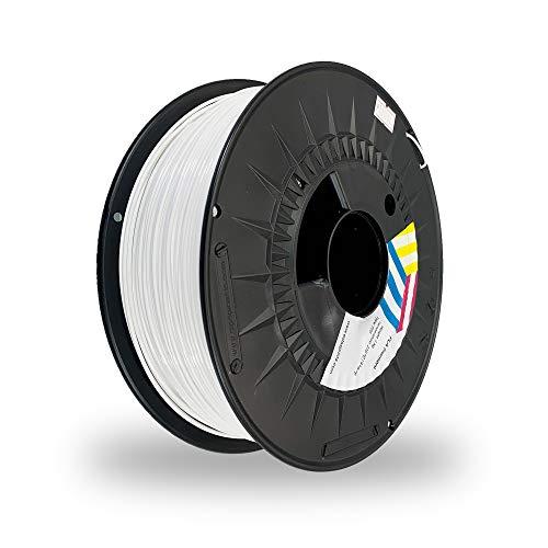 Eolas Prints Basics   Filamento PLA 1.75   PLA Plus Impresora 3D   Apto para uso alimentario   Carrete Ligero   1,75mm   Bobina 2,5Kg   Blanco