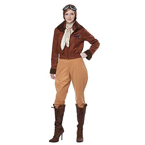 California Costumes Women's Amelia Earhart-Aviator-Adult Costume, Brown, Large