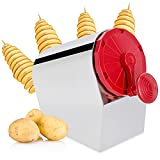 Moongiantgo Tornado Potato Spiral Cutter Manual 3 in 1 Stainless Steel Potato Twister Curly Fry Cutter Twisted Potato Slicer French Fry Cutter for Sweet Potatoes Zucchini Carrots Cucumbers