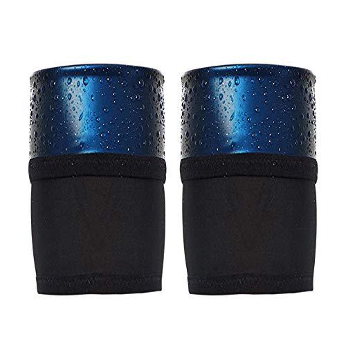 POHOVE Lot de 2 coupe-bras pour femme - Bandes de sudation - Garde la chaleur - Pour homme et femme - Taille XL