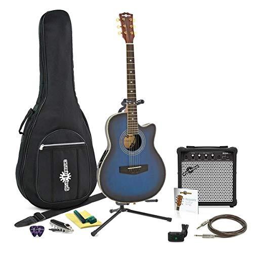 Guitarra Electroacústica Roundback + Paquete Completo Blue Burst