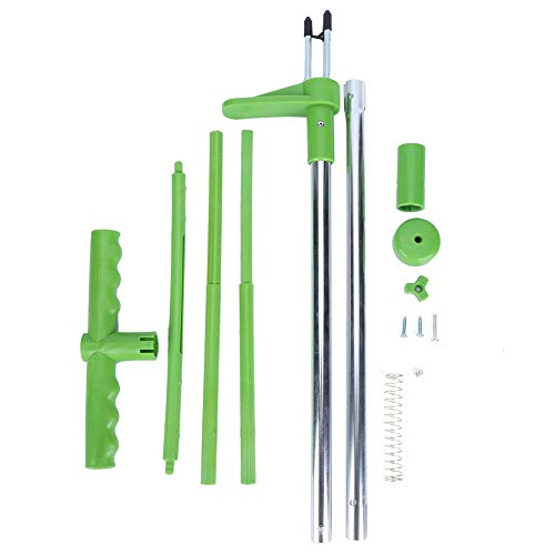 DISHUECO Portable Weed Puller Stand Up Weeder Long Handle Garden Lawn Root Killer Remover Tool