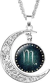 Colgantes del collar de la luna y medalla con la muestra de la estrella de la joyería ideas de regalos para cada ocasión