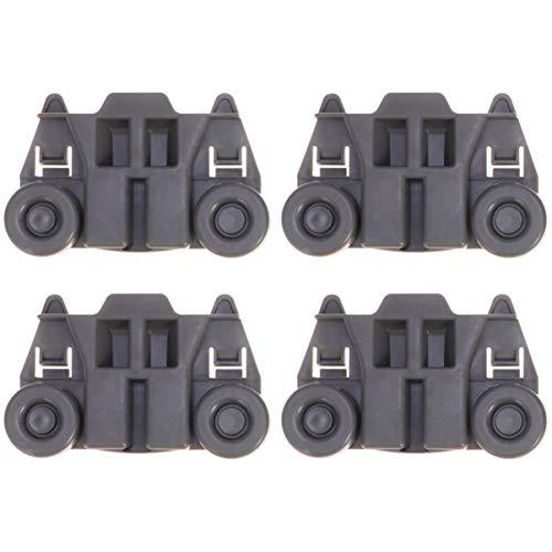 ULTECHNOVO rueda de lavavajillas kit de reparación de cesta inferior de plástico accesorio de rueda para lavavajillas 4 piezas