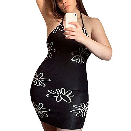 Bodycon Maxi/Midi vestido para mujer Y2K sin mangas vestidos largos sexy sin espalda playa sin mangas vestido de verano