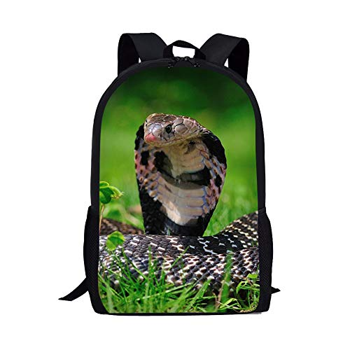 Generic Snake Printed School Backpack for Children Cool Outdoor Bags...