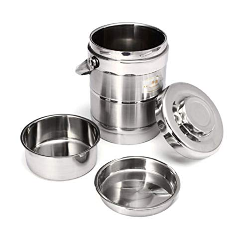 CHENC Fanh - Fiambrera térmica de acero inoxidable, 1,6/2,0 l, material saludable, aislada al vacío, con aislamiento térmico al vacío, tamaño 1,6 L)