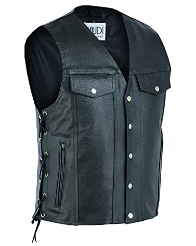 Gaudi-Leathers Chaleco de piel para...