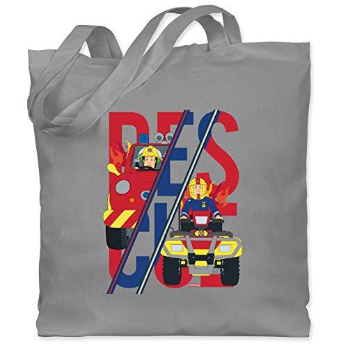 Shirtracer Feuerwehrmann Sam Tasche - Rescue Sam Merkur Venus - Unisize - Hellgrau - Spruch - WM101 - Stoffbeutel aus Baumwolle Jutebeutel lange Henkel