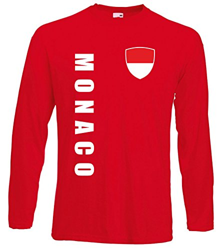 aprom Monaco Langarm T-Shirt Trikot LS-Spa Rot Longsleeve (L)