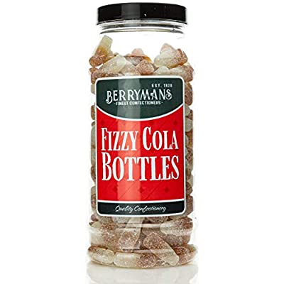 original fizzy cola bottles retro sweets gift jar by berrymans sweet shop - classic sweets, traditional taste. Original Fizzy Cola Bottles Retro Sweets Gift Jar by Berrymans Sweet Shop – Classic Sweets, Traditional Taste. 41iEzx1nqIL