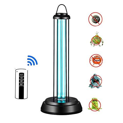 Yangm Uv-steriliserende lamp, 36 W, ozon-desinfectielamp, antibacteriële laag, 99% kiemdodende lampen, met afstandsbediening, voor huishoudkoelkast, toilet voor huisdieren