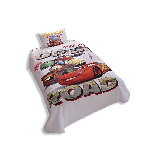 Disney Cars Single/Twin literie 100% coton Couvre-lit/couvre-lit Lot de 3 pcs