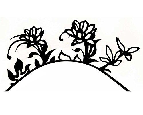 Eulenspiegel 003176 Flower Power Paire de cils en papier Noir