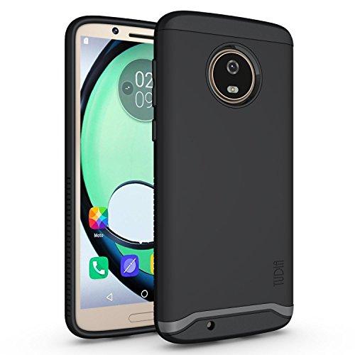 TUDIA Motorola Moto G6 Hülle, Slim-Fit Merge Dual Layer Schutzhülle für Motorola Moto G6 (Matte Black)