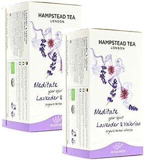 Hampstead Tea London Bio Lavendel und Baldrian Infusion — 2 x 20 Teebeutel 80 g