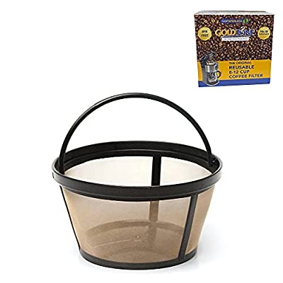 GoldTone Reusable 8-12 Cup Basket Filter fits Black & Decker Coffee Machines and Brewers. Replaces your Black+Decker Reusable Coffee Filter and Permanent Black & Decker Coffee Basket Filter