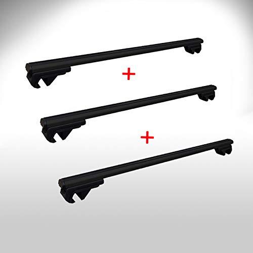 Dachträger passend für Nissan Primastar Dachgepäckträger ab Baujahr 2001 3 x aus Aluminium in schwarz 150cm