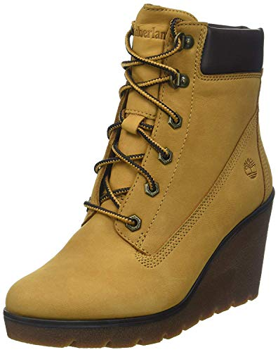 Timberland Paris Height 6 inch, Stivali Donna, Giallo (Dark Yellow/Nubuck), 37 EU