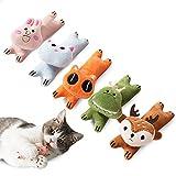 Blnboimrun 5Pcs Catnip Toy, Cat Chew Toy Bite Resistant Catnip Toys for Cats,Catnip Filled Cat Teething Chew Toy