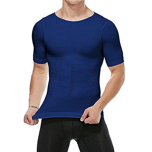 LASD 2021 Men's Shaper Slimming Compression T-Shirt,?Slimming Compression T-Shirt, Men's Shaper Slimming Compression T-Shirt (XL,Blue)