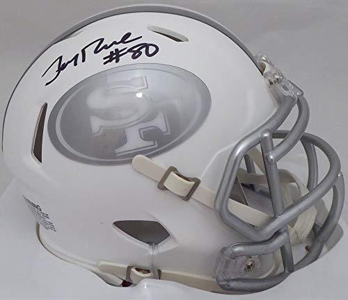 Jerry Rice San Francisco 49ers NFL Hand Signed Mini Helmet