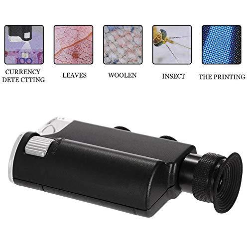 KAR Minihand 60X-100X Taschen-Mikroskop, Beleuchtet Dual-Purpose-Handy Vergrößerungsmikroskop Universal-Handy-Clip-Art Vergrößerungsglas