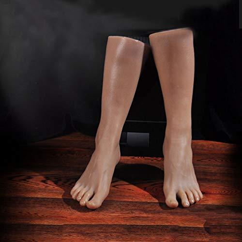 Silikon Männer Schaufensterpuppe Fuß - 1: 1 Lebensgroße Füße Modell Display Schmuck Sandale Schuh Socke Display Kunst Skizze Fuß Spielzeug 1 Paar