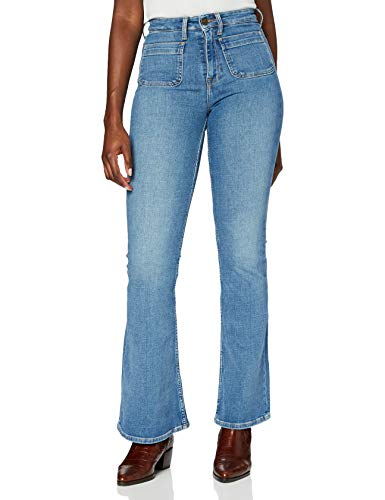 Lee Breese Patch Pocket Jeans, Blue Aged, 26W x 31L para Mujer
