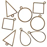 Misscrafts 40pcs Geometric Hollow Frame Pendant Blank Skeleton Frame for DIY Necklace Bracelet Eardrop Jewelry Making Gold