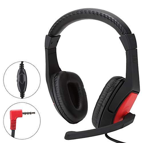 Mugast Auriculares para Juegos de 3.5 mm, Auriculares para Juegos con micrófono con reducción de Ruido y Adaptador de Audio, Volumen Ajustable, para Nintendo Switch/PS4/PC/Smartphone, etc.
