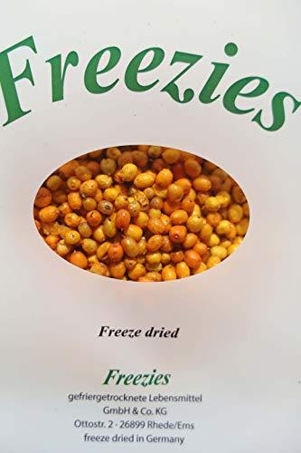 Freezies, Sanddorn gefriergetrocknet 100g sea buckthorn freeze dried, ohne Zuckerzusatz , 100% Früchte Snack 100g = 5,99 Euro