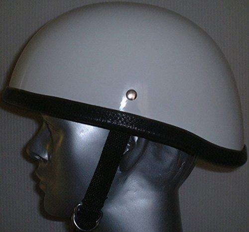 ダックテール ヘルメット シングルストラップ 白 ホワイト 装飾用 フリーサイズ(56-60cm) DS-102-F