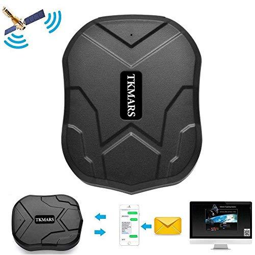 Winnes GPS-tracker, real-time positionering GPS met sterke magneten 90 dagen lang stand-by GPS tracker auto vrachtwagen fiets GPS detectie senioren voor gratis app
