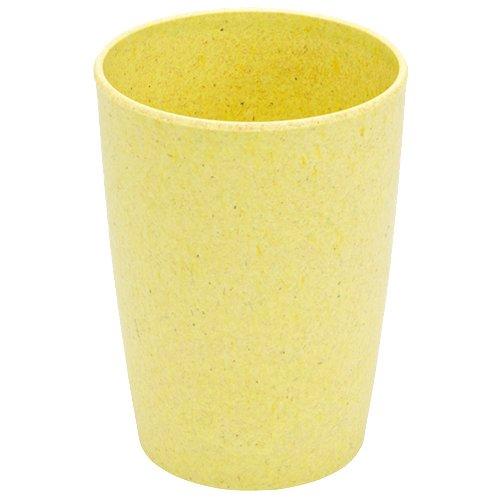 Magu 132 461 Gobelet, Fibre de Bambou/Bois/Fécule de Céréale, Jaune, 28 x 28 x 8 cm