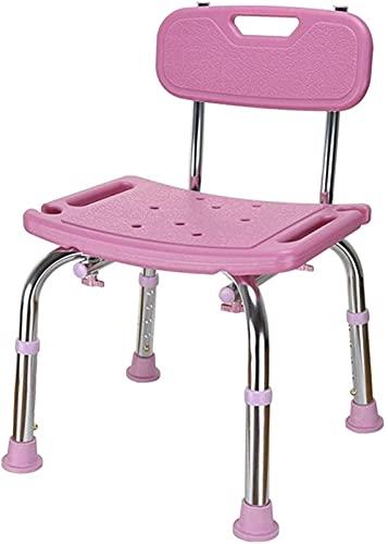Taburete de ducha para personas mayores, taburete de ducha, altura ajustable, antideslizante y confiable, taburete de baño multiusos para niños, ancianos, discapacitados y discapacitados