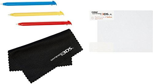 AmazonBasics Screen Protection and Stylus Kit for New Version Nintendo 3DS XL (Officially Licensed)