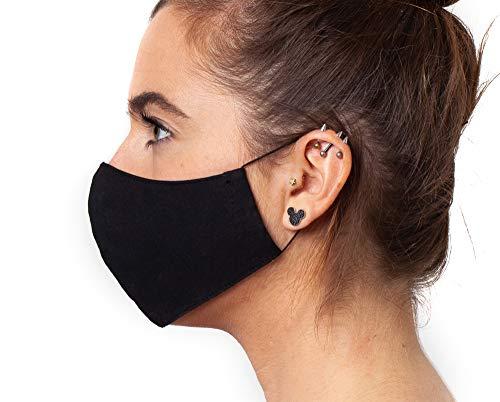 Baumwolle Mundbedeckung Maske in schwarz