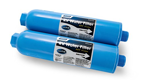 Camco TastePURE Inline Water Filter, Greatly Reduces Bad Taste, Odors, Chlorine and Sediment in Drinking Water (2 Pack) (40045)