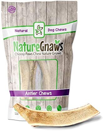 Nature Gnaws Antlers for Dogs Premium Natural Deer and Elk Antler Chews Long Lasting Dog Chews product image