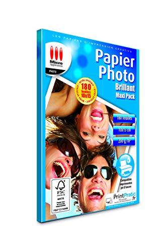 PAPIER PHOTO BRILLANT PACK ECO 10 X 15 CM (200) 170 GR 5760 DPI