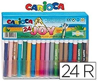 Carioca - Caja con 24 rotuladores (A11105024): Amazon.es: Juguetes y juegos