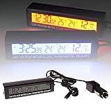 YSHtanj - Reloj termómetro para coche con termómetro,...