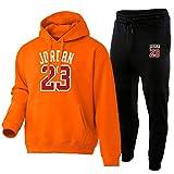 OUHZNUX Baloncesto Jersey De Algodón Puro Sudadera para Hombre Funda Suelta 23# Jordan Sportswear Gym Basketball Sportswear Sudadera Casual (Tamaño: S-XXXL)
