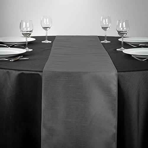 LinenTablecloth Shantung-Seide Tischläufer, 35,6x 274,3cm anthrazit